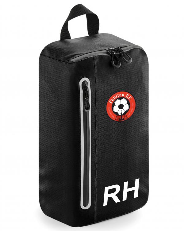 Poulton FC Boot Bag initials