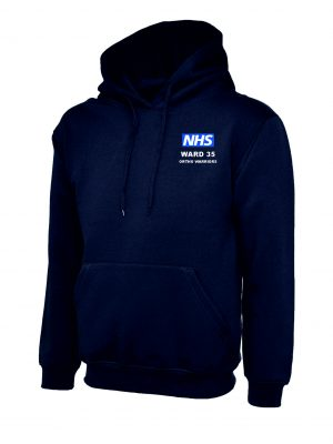 NHS Ward 35 Ortho Warriors Hoodie Navy Royal