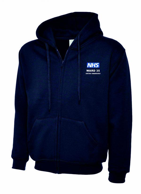 NHS Ward 35 Zipped Hoodie Ortho Warriors