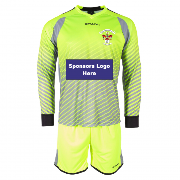 Thornton Cleveleys FC Goalkeeper Set with Sponsor