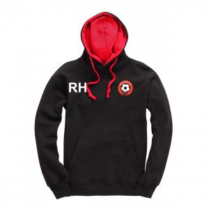 Poulton FC Adult Hoodie Black Red