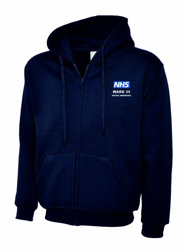 NHS Ward 35 Zipped Hoodie Ortho Warriors