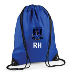 FC Rangers draw bag with initials