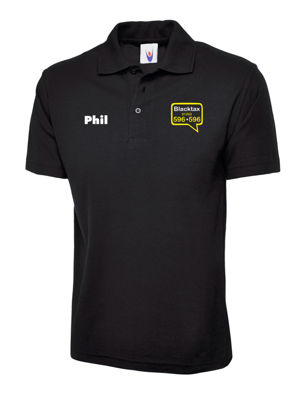 Blacktax Polo with Initials