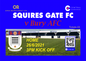 Squires Gate FC Tickets Bury AFC